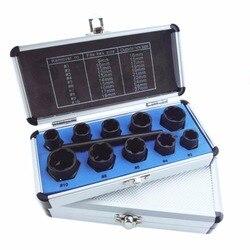 11 sztuk/zestaw uszkodzone nakrętka śruby Remover śruba usuwania Extractor usuwania zestaw 9mm 19mm wysokiej gwintowania zestaw z pudełkiem|Zestawy narzędzi ręcznych|Narzędzia -