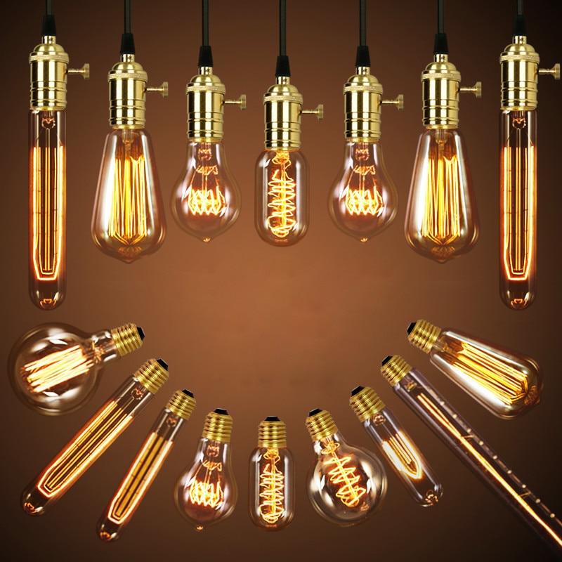 edison lampada luminaria retro lampada bombilla industrial vintage lampada st64 g80 220 v 40 w e27