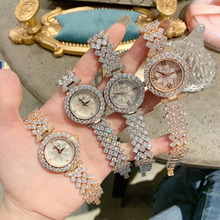 Elegant Fashion Women Full Crystals Jewelry Watches Luxury R
