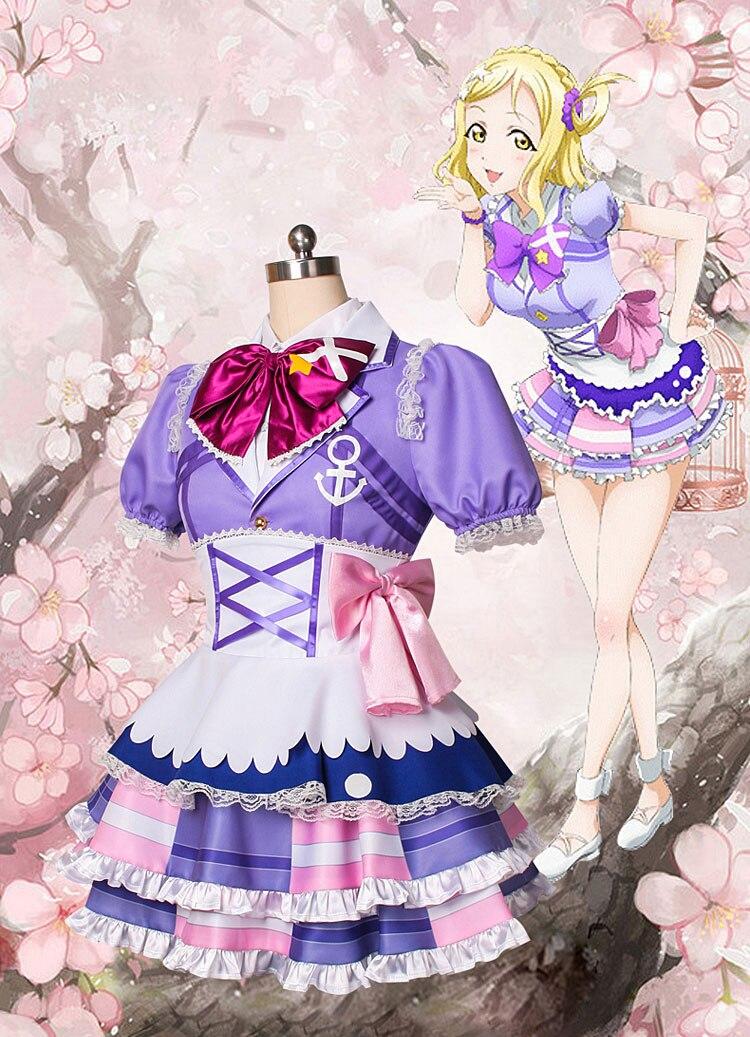 Love Live Sunshine Aqours Mari Ohara first PV kimi no kokoro cos stage dress cosplay costume