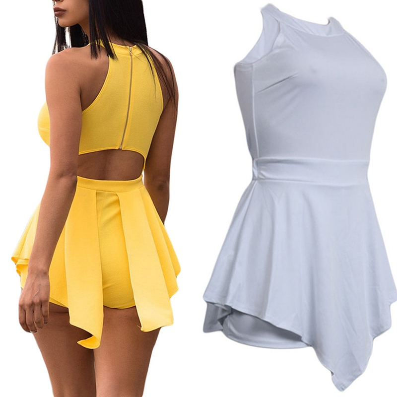 HTB1tT41LAvoK1RjSZFNq6AxMVXan - Women Elegant Jumpsuits & Rompers Halter Irregular Sleeveless Slim Bodycon Overalls Cocktail Club Party Bodysuit