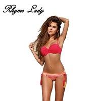 Rhyme Lady Hot Sale Bikini Set Swimsuit Women Push Up Swimwear Vintage Bathing Suit Brazilian Bikini