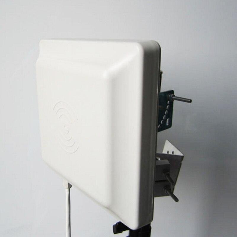 Lecteur UHF intégratif Wiegand/lecteur de carte UHF RFID 0-6 m longue distance avec antenne 8dbi RS232/RS485