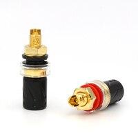 High Quality 4pcs Viborg BP603G Pure Copper Gold Plated Binding post Speaker Terminal hifi speaker amp