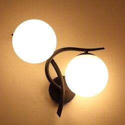 Nowoczesne  minimalistyczne podwójna głowica kinkiet sypialnia lampki nocne lampy kreatywny pokój Luminarias De lusterko wewnętrzne  czarny  złoty  doprowadziły światła na ścianie