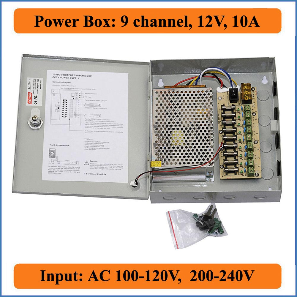 Adapter Power Supply Fuse Box Custom Wiring Diagram Dc 9 Channel 12v 10a Cctv Camera Switching Suply Rh Aliexpress Com Plug Adapters Kit