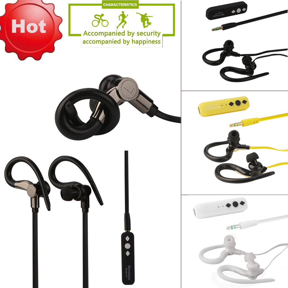 Wireless Bluetooth Headset Stereo Headphone Earphone Sport bluetooth earphone with mic For iPhone May23