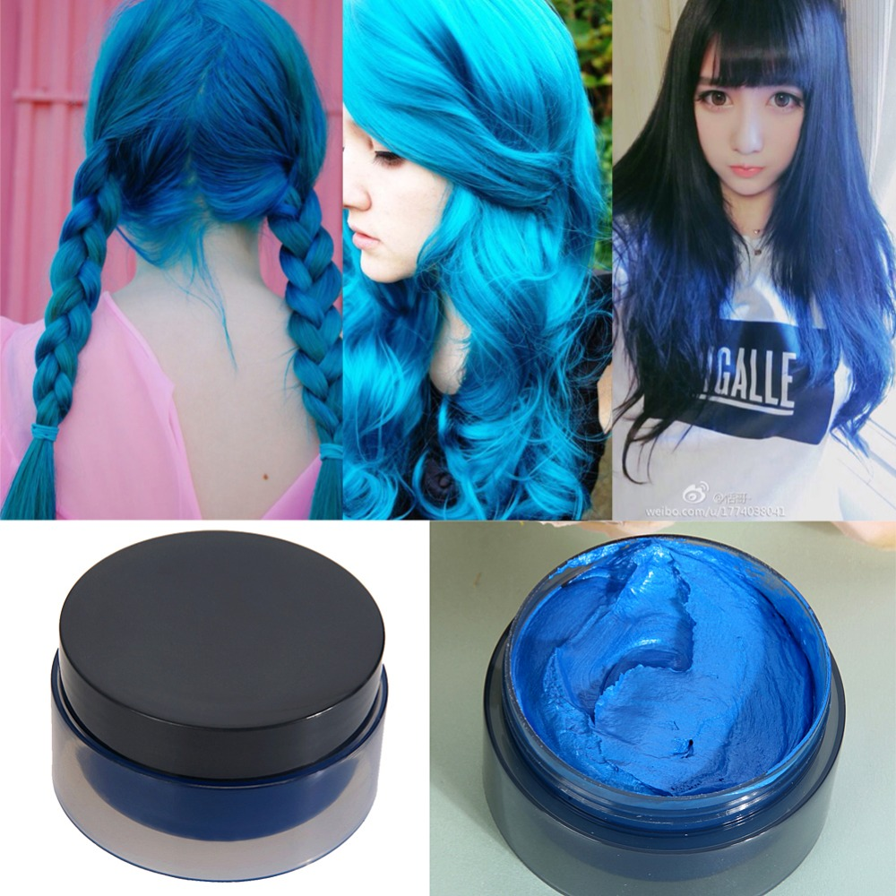 5 Colors 100 ML Temporary Hair Color Dye Cream Disposable DIY Hair ...