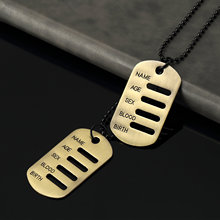 Hiphop Charm Canada American Flag Military Badge Double Dog Tag Fashion Necklace Pendant ID Card Cool Jewelry Findings Wholesale(China)