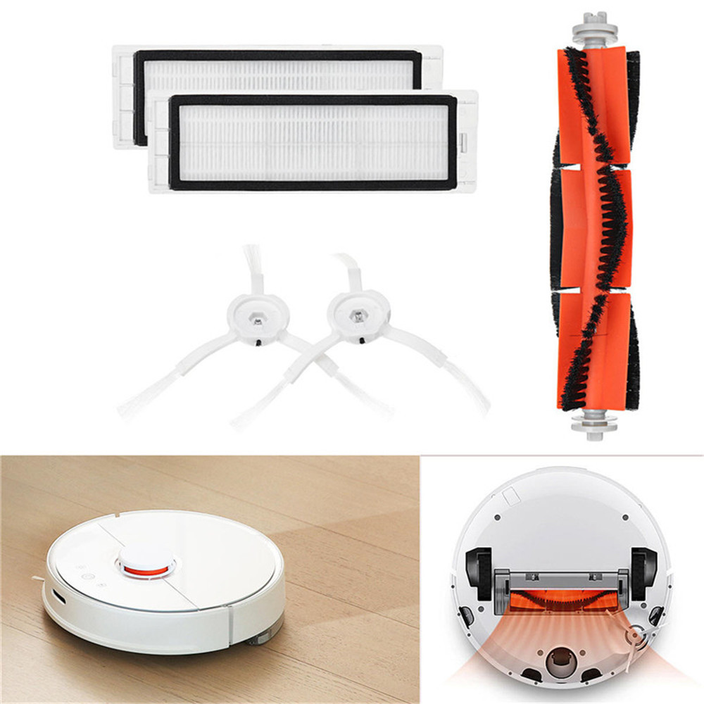 Main Brush Filters Side Brushes Accessories For XIAOMI MI Robot Vacuum Home Applicance Part O.12Main Brush Filters Side Brushes Accessories For XIAOMI MI Robot Vacuum Home Applicance Part O.12