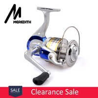Meredith Fishing Reel Highly cost effective For Beginner Lure Fisher 1BB Ratio 5.2:1 Folding Rocker Plastic Spool Spinning Reel