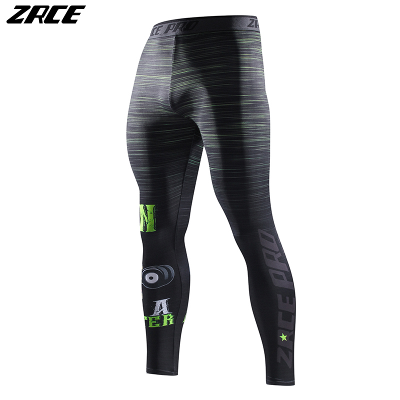 ZRCE Bodybuilding Trousers Skinny Fashion Fitness Leggings Men 3d Printer Matching Pants Plus Size Compression Elastic Waist