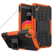 2 in 1 Armor Style Case for LG X Power Back Cover Heavy Duty Hybrid Coque Hard PC with Soft Silicone Fundas for LG XPower K220