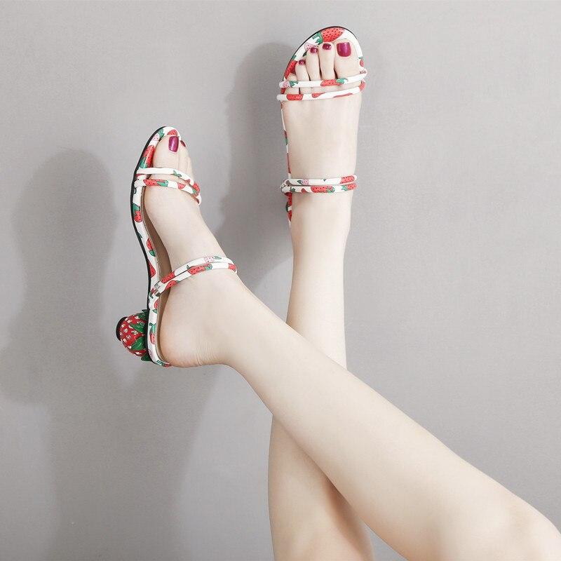 Size 31-39 Summer Sandals For Women Rough Heels Strawberry Heels Luxury Sandals Women Designers Slip On Sandals LadySize 31-39 Summer Sandals For Women Rough Heels Strawberry Heels Luxury Sandals Women Designers Slip On Sandals Lady