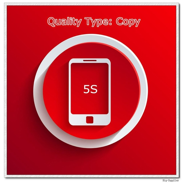 10 pçs/lote Testado Display LCD de Tela para 5S Copiar Uma Qualidade Preto/Branco