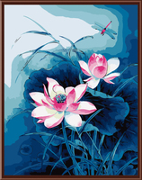 Beautiful Flowers Frameless Picture Painting By Numbers Digital Oil Painting On Canvas Home Decoration Painting Lotus