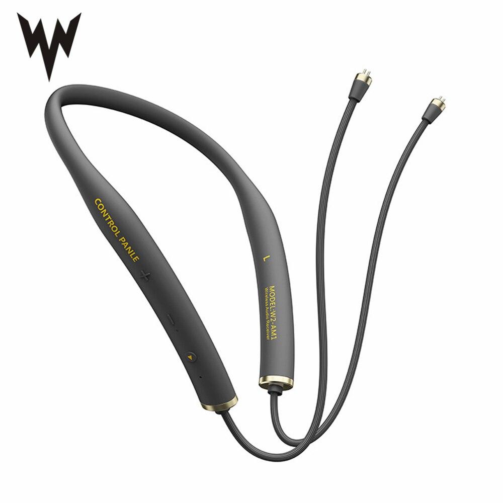 Whizzer W2-AM1 Drahtlose Bluetooth Kabel Upgrade Modul Mit 2PIN/MMCX Anschluss Unterstützung Apt-X mit Mic Für Android /iOS V5.0