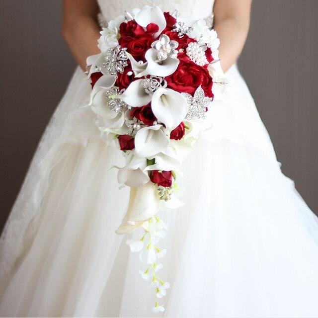 Wasserfall Stil Bouquet Mode Pe Kristall Kunstliche Braut Handen