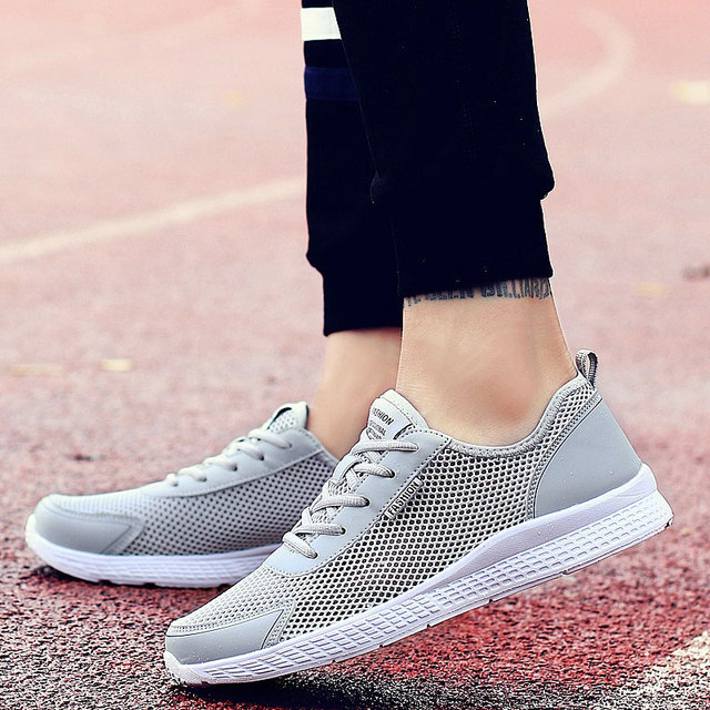 Men Shoes Mesh Breathable Men Sneakers Light New 2019 Shoes For Men Lace-Up Comfortable Male Footwear RMC-053