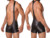 3 hombres de color sexy lingerie faux leather bodywear wrestling singlets siamés boxers underwear men body solid traje leotardo