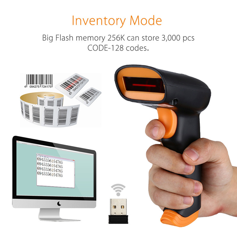 Wireless NETUM S2 For Pos and Invertory 2.4G  1D Barcode Scanner Up to 50m Laser Light USB Wired Wireless 1D Scanner ReaderWireless NETUM S2 For Pos and Invertory 2.4G  1D Barcode Scanner Up to 50m Laser Light USB Wired Wireless 1D Scanner Reader