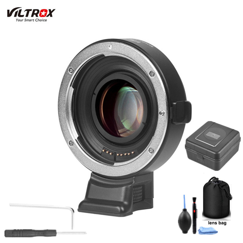 Viltrox EF E II Auto Focus Reducer Speed Booster Lens Adapter for Canon EF Lens to Sony NEX E A9 A7 A7R/II/III A7SII A6500 NEX7