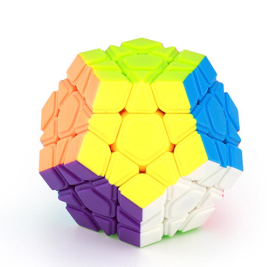 Cubage Classe Megaminx Magic Cube Vitesse Cube Twisty Puzzle Jouet pour Les Débutants-Coloré