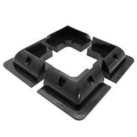 New 4Pcs ABS Edges Solar Panel Mounting Brackets Black Corner Set Kit For Yacht/Solar Panel qyh