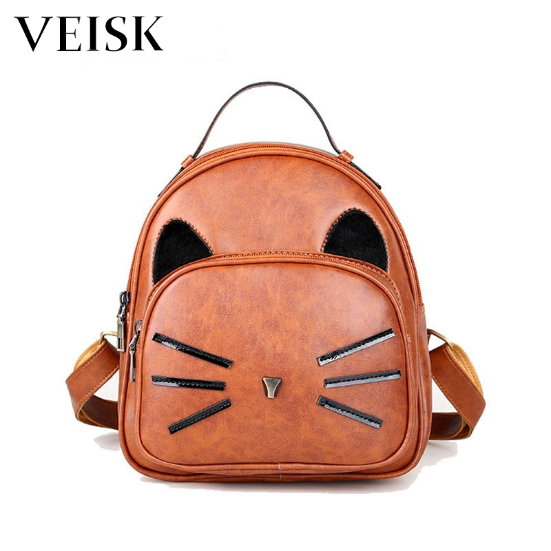 Black Women Backpacks Womens PU Leather Backpacks Female School Shoulder Bags For Teenage Girls Travel Back Pack ...