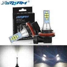 2Pcs H8 H11 Led Canbus 9006 HB4 9005 HB3 H16 5202 PSX24W Led Bulb Car Fog Light 1400LM 6000K White 12V 24V DRL Auto Lamp Bulbs