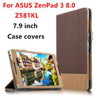 "Case Cover For ASUS ZenPad 3 8.0 Z581KL P008 Protective Smart covers PU Protector Leather Tablet Zenpad Z8 ZT581KL 8""Cases 7.9"""