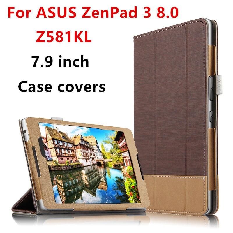 Case Cover For ASUS ZenPad 3 8.0 Z581KL P008 Protective Smart covers PU Protector Leather Tablet Zenpad Z8 ZT581KL 8Cases 7.9 it baggage чехол для asus zenpad 8 z380 black