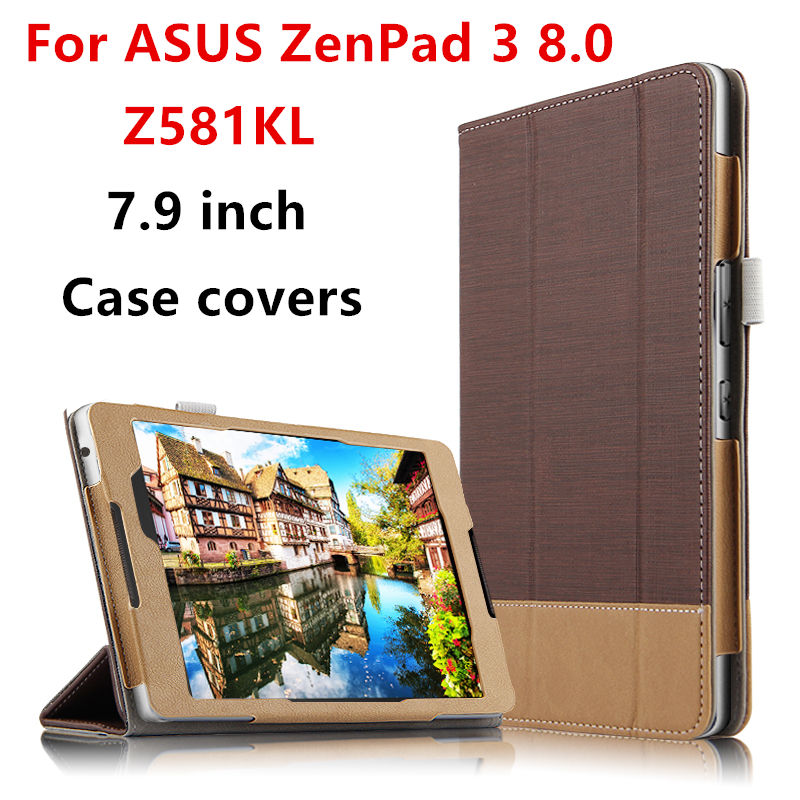 Case Cover For ASUS ZenPad 3 8.0 Z581KL Protective Smart covers PU Protector Leather Tablet PC Zenpad Z8 ZT581KL 8 Cases 7.9 чехол asus для планшетов zenpad 8 pad 14 полиуретан поликарбонат белый 90xb015p bsl320