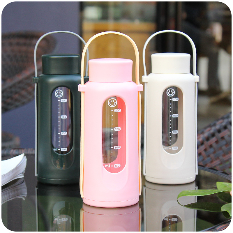 Creative Travel Outdoor Water Bottles Portable Dog Cat: Creative Glass Male And Female Students Portable Outdoor