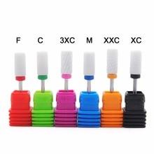 Nail File Drill Bit Burr 6 Type Milling Cutter Manicure Electric Nail Drill Machine Nail Accessories Electric Manicure Bits
