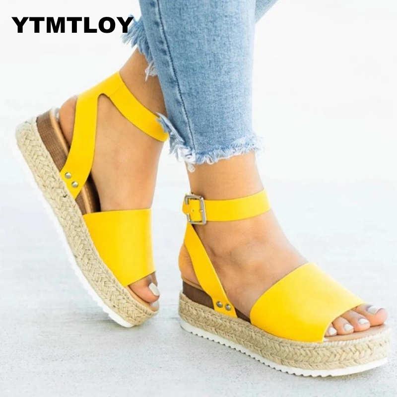 11 Sandals Women Wedges Shoes Pumps High Heels Sandals Summer 2019 Flip Flop Chaussures Femme Platform Sandals Sandalia Feminina