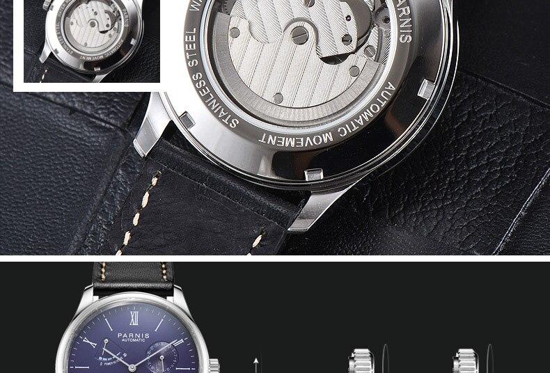 HTB1tT6cMmzqK1RjSZFHq6z3CpXah 2019 Luxury Man Parnis Power Reserve Automatic Watch Mechanical Self Winding Men Watches mekanik kol saati relogio automatico