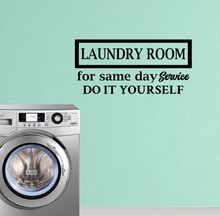 Beauty Wall Paper Laundry Room Service Wall Sticker Vinyl Art Removable Decoration For Laundry Room Washing Cloth Shop LX158 цена 2017