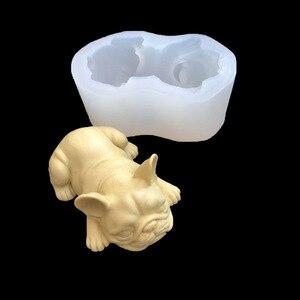 3D форма для собак, украшение для торта, помадка, форма для бульдога, мыло, формы для выпечки, DIY мусс, Icecream, инструменты для выпечки тортов