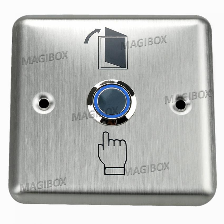 Stainless Push Release Button Door Access Control LED Switch Output lpsecurity stainless steel door access control led backlit led illuminated push button door lock release exit button switch