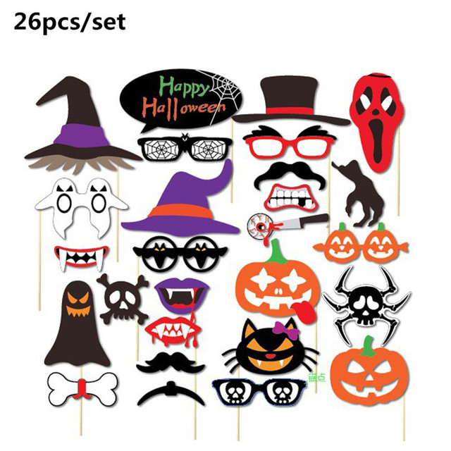 Nicexmas Halloween Decoration Photo Booth Props Mustache Scary Boo ...