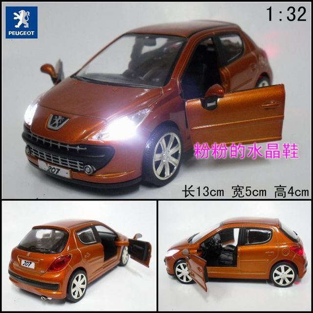 Plain pulchritudinous 207 G alloy car model toy alloy car models