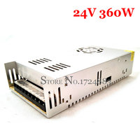 FreeShipping 24VDC 15A 360W Switching Power Supply Driver For Industrial Equipment AC 100 240V Input To
