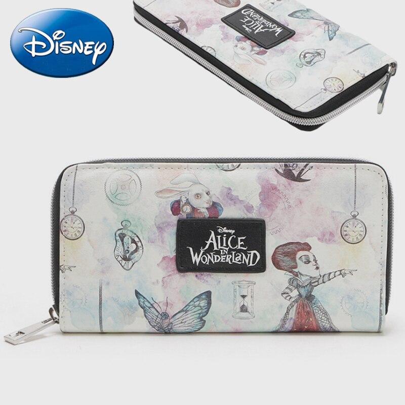 Genuine Disney Alice Women Wallet Bags 2019 New Girl Multi-function Purse Travel Storage Clutch Backpack Mommy Bag Card Holder