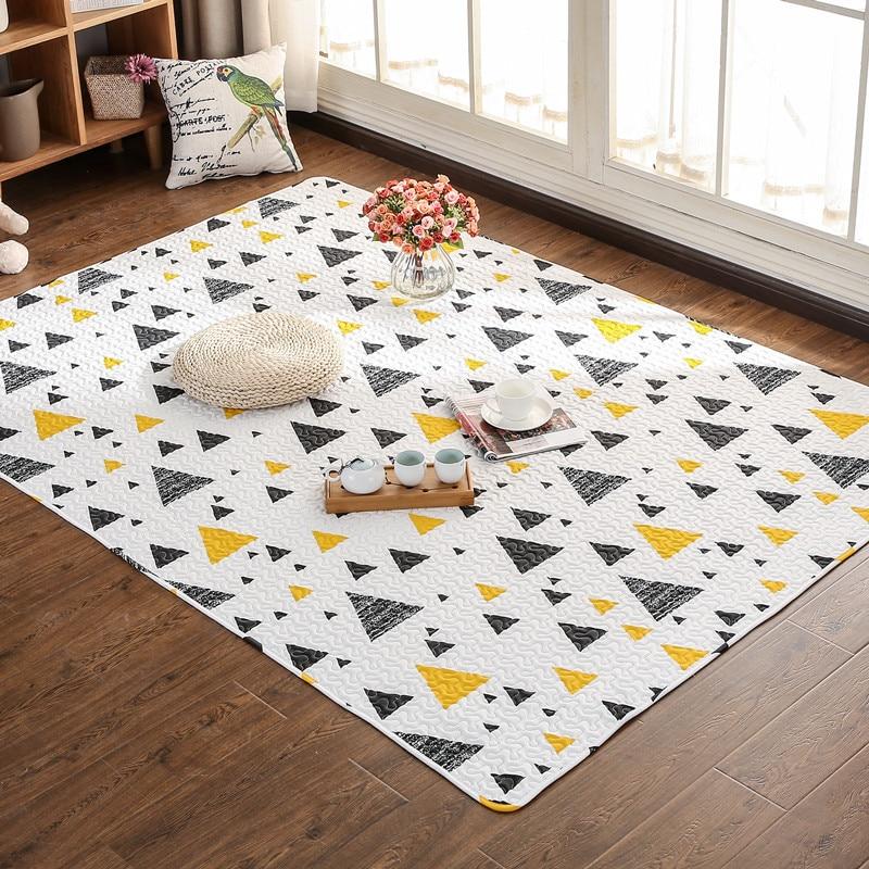 Cotton Carpet Living Room Dining Bedroom Area Rugs Anti: 100% Cotton 3D Carpet Anti Skid Mats Geometric Carpet For