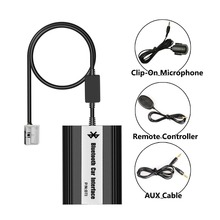 APPS2Car Bluetooth Hands Free Adaptor Wireless Music Call Car Integrated USB AUX Jack Interface for Peugeot 607 (2005 and after)