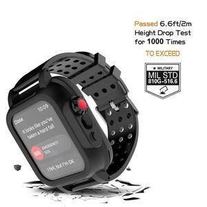 Image 4 - アップル iwatch シリーズ 3 42 ミリメートル IP68 防水バンパー pc 時計ケースとゴムバンド iwatch シリーズ用 4 44 ミリメートル 40 ミリメートル