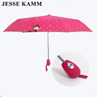 JESSE KAMM Fully Automatic Deer Lovely New Design Drop Shopping Rain Folding Strong Windproof For Ladies Women Strong Umbrellas