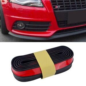 Image 2 - 2.5M Car Bumper Lip Stickers Car Front Bumper Lip Rubber Car Bumper Protectors Exterior Mouldings Bumper Lip Strip 65mm Width