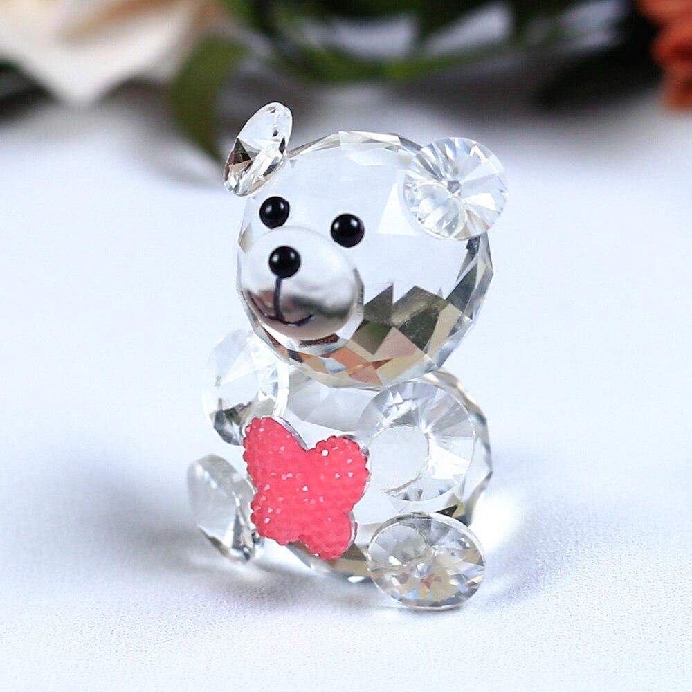 Mariposa linda Oso decorativo Figuritas de cristal Miniaturas - Decoración del hogar - foto 5